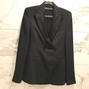 NWT ZARA jacket w contrasting lapels suit blazer